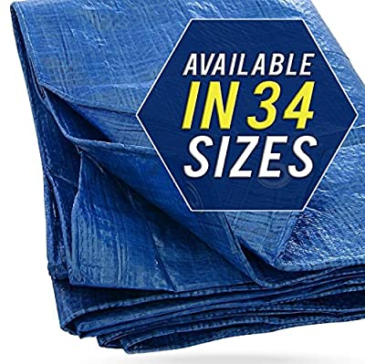 Tarp Cover Blue, Waterproof, Great for Tarpaulin Canopy Tent, Boat, RV or Pool Cover!!!