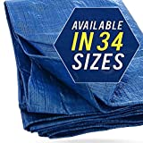 Tarp Cover 100X100 Blue, Waterproof, Great for Tarpaulin Canopy Tent, Boat, RV or Pool Cover!!!