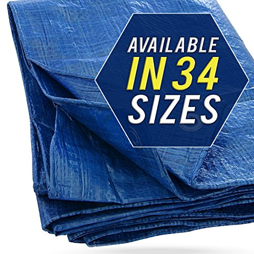 40X60 Blue Tarp Tarpaulin Canopy Tent, Boat. RV or Pool Cover