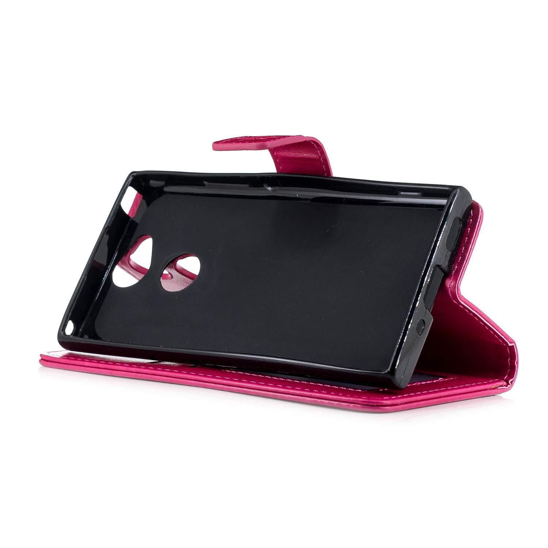 Herbests Kompatibel mit Sony Xperia XA2 H/ülle Leder H/ülle Flip Case Wallet Handyh/ülle Ananas Muster Schutzh/ülle Leder Tasche Bookstyle Handytasche mit St/änder Kartenfach Rose Gold