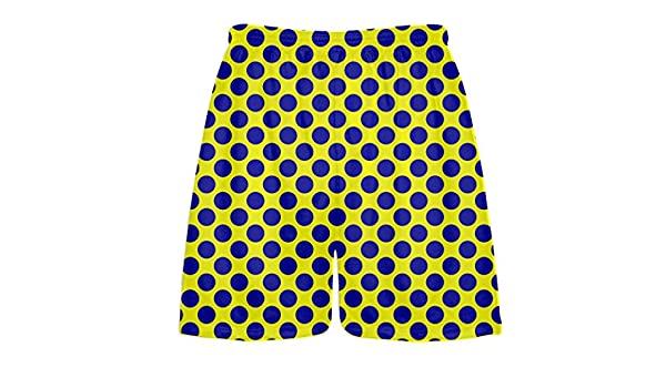 Yellow Navy Blue Polka Dot Shorts Athletic Shorts Youth Extra Large Polka Dot Lacrosse Shorts