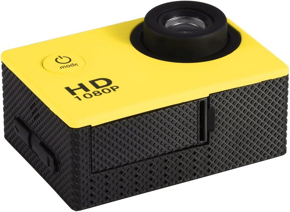 Videocamera di azione Mini DV Videocamera sportiva Impermeabile da esterno 30M Videocamera subacquea Sport da ciclismo Videocamera DV Action Camera per escursionismo allaperto Nuoto Argento