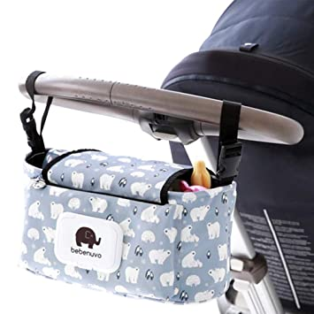 Universal. Red Owl Waterproof Straps and Clips Diaper Bag Hanging Bottle Holder for Pushchair Baby Stroller Organizer Bag Pram Buggy Organiser Storage Bag Oxford for Buggies with Velcro