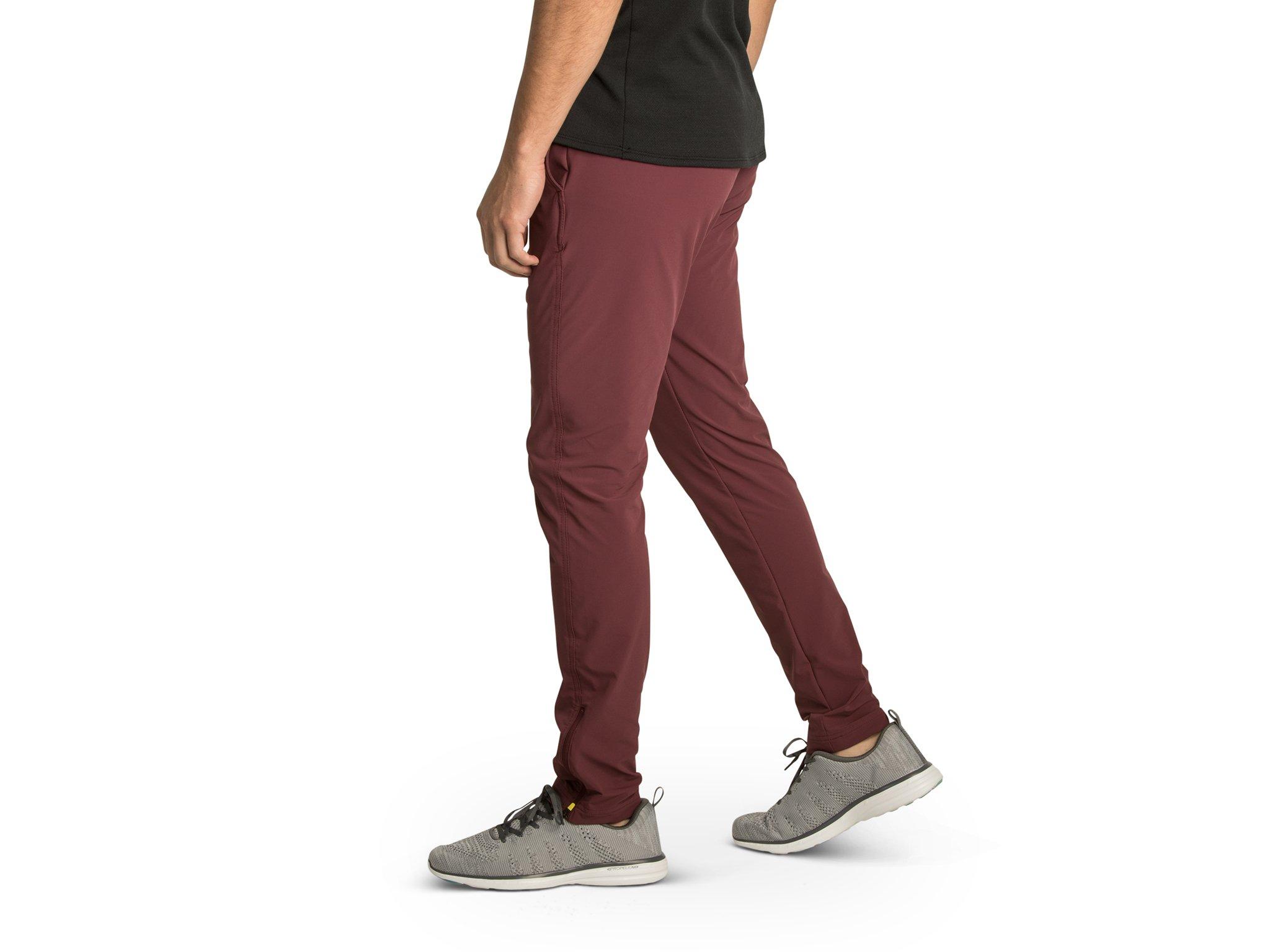 OLIVERS Apparel, Water Repellant, Athletic Cut, 4-Way Stretch, Bradbury Jogger Pants, 31 Inch Inseam - Crimson - Large