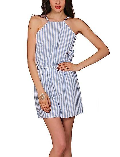 Fashion Womens Holiday Mini Playsuit Velvet  Sleeveless Backless Jumpsuit SPE