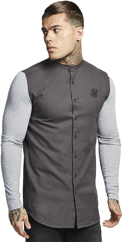 Sik Silk - Camisa Casual - para Hombre Gris Gris Small ...