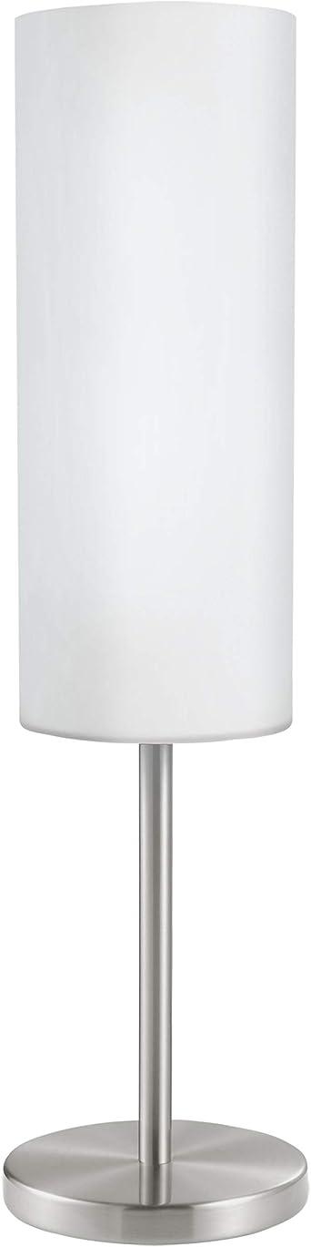 EGLO Table Lamp, Steel, 60 W, Satin