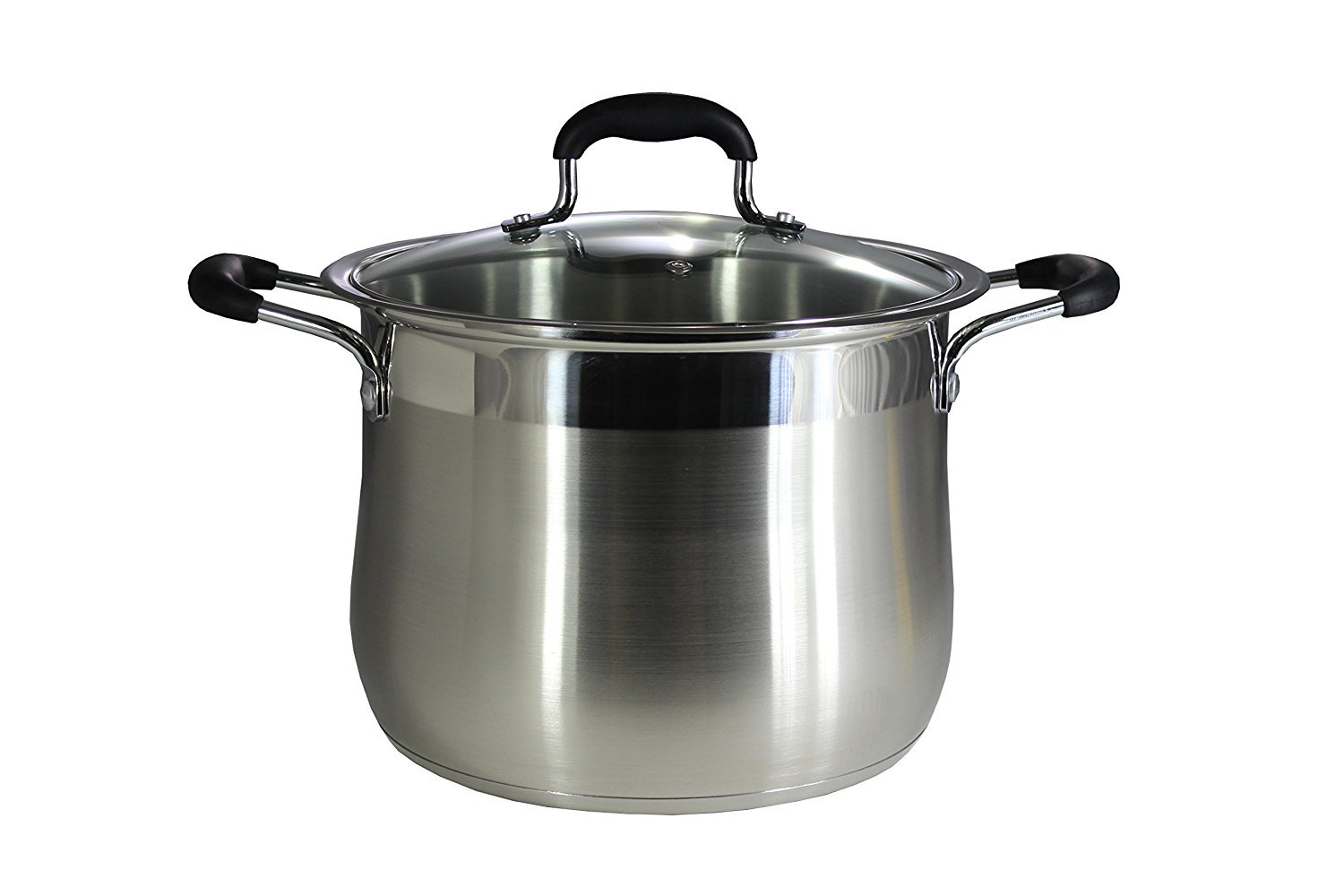 Concord Stainless Steel Stock Pot with Glass Lid (Induction Compatible) ((7 QT) Concord Cookware COMIN18JU070086