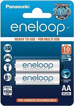 Panasonic Eneloop SY3052623 - Pack 2 Pilas Recargables, AA: Amazon.es: Electrónica