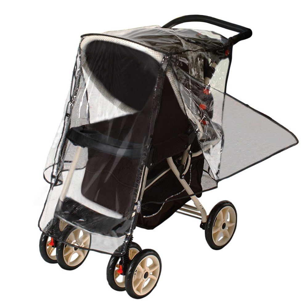 J is for Jeep Deluxe Stroller Weather Shield, Baby Rain Cover, Universal Size, Waterproof, Water Resistant, Windproof, See Thru, Ventilation, Protection, Shade, Umbrella, Pram, Vinyl, Clear, Plastic by Jeep (Image #2)