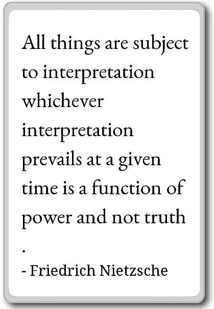 Amazon All Things Are Subject To Interpretatio Friedrich