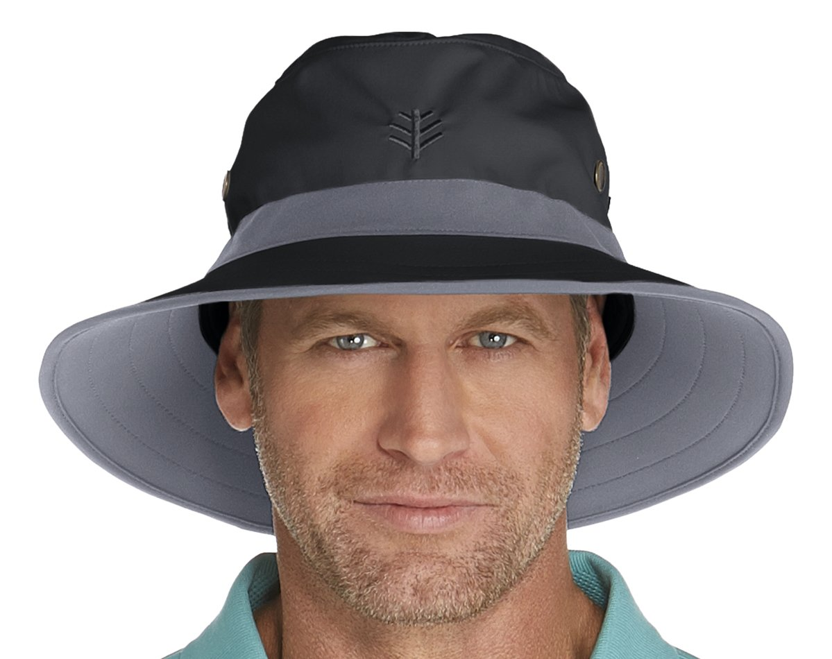 Coolibar UPF 50+ Men s Matchplay Golf Hat - Sun Protective at Amazon Men s  Clothing store  e4ee97930b1