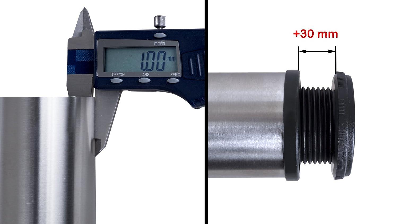 30 mm inkl Befestigungsmaterial h/öhenverstellbar 1 x EDELSTAHL Tischfu/ß /Ø60 mm Tischbein M/öbelfu/ß  H/öhe : 710 mm