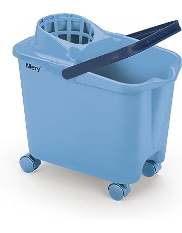 Mery 0325.31 Cubo con Ruedas, Polipropileno, Azul, 25.5x39x36.5 cm