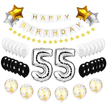 Best Happy To 55th Birthday Balloons Set