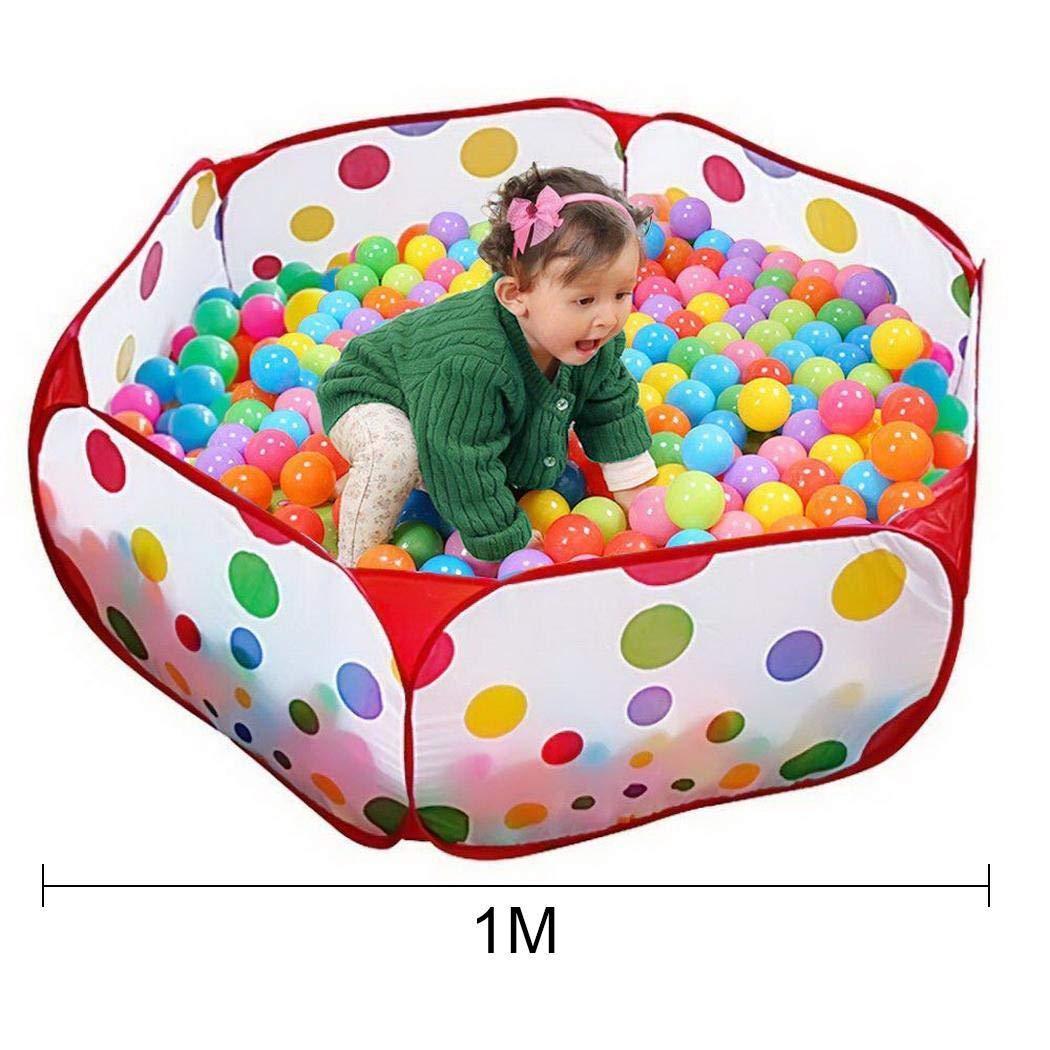 Legros 子供用 折りたたみ オーシャンボール ピット テント プレイプレイ おもちゃ ジッパー付き収納バッグ付き LGVM033540_1 B07HR7TQ45 1m
