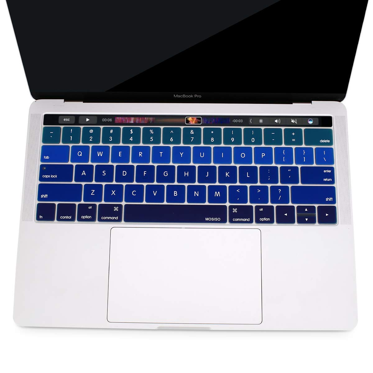 A1990//A1707 Mosiso Keyboard Cover Compatible Touch Bar 2018 2016 2017 Newest Version MacBook Pro 13 with Touch ID /& MacBook Pro 15 A1989//A1706 Rainbow
