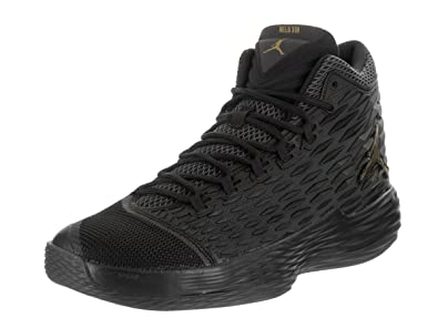 b5bbcb87be8 Image Unavailable. Image not available for. Color  Nike Jordan Mens Jordan  Melo M13 Black Metallic Gold Anthracite Basketball ...
