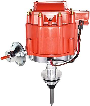 DODGE 273-318-340-360  BLACK Small Female Cap HEI Distributor /& Spark Plug Wires