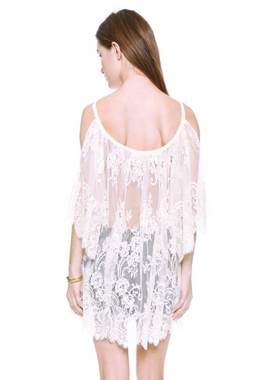 Vococal - Camisetas de Crochet de Encaje Floral Transparente / Tapas Sueltas Blusas de Manga Larga para Otoño Verano (Blanco,XL): Amazon.es: Juguetes y ...