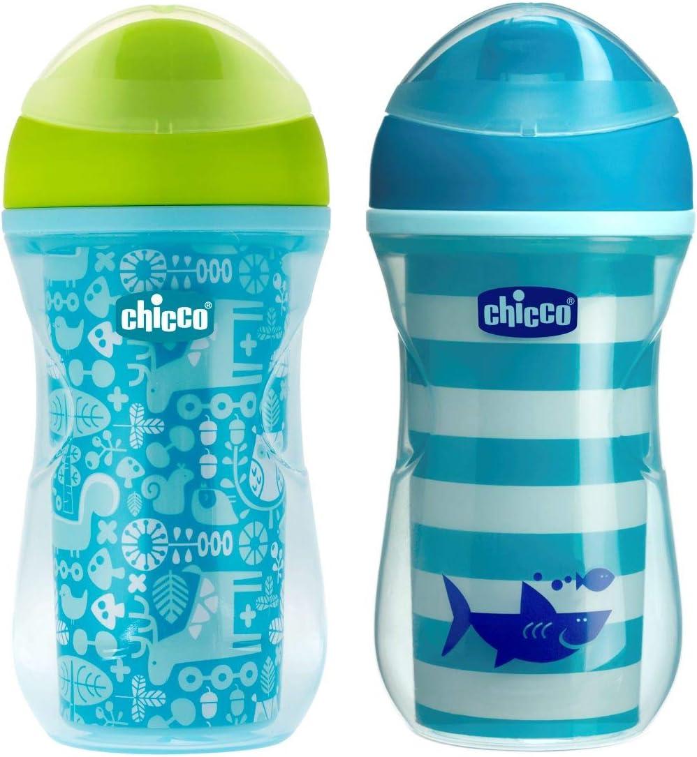 color azul 14m+ Vaso con boquilla fina que mantiene la temperatura Chicco Termo Active modelos surtidos
