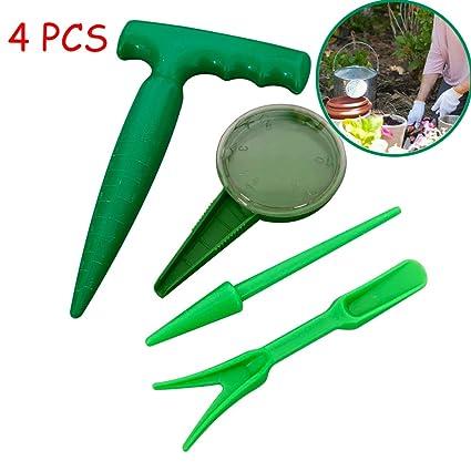 Amazon com : Sungift Soil Puncher Seed Planter Tool Kit