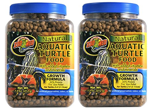 Natural Aquatic Turtle Food With Growth Formula pack of 2