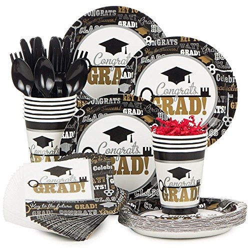 Costume SuperCenter Key to Success Standard Tableware Kit (Serves 50) -