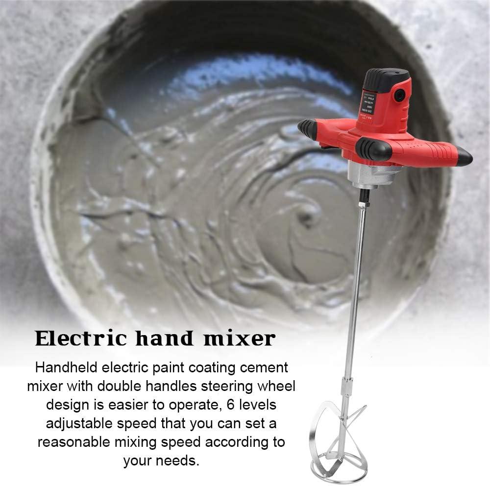 Mezclador de mortero 1800W electricas,mezcladora de cemento y pintura batidora cemento taladro batidora mortero cemento batidor yeso