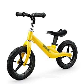 Bicicletas sin pedales Bicicleta de Equilibrio Amarillo, para niños de 2 a 6 años, Bicicleta de Entrenamiento de Asiento Ajustable Liviana: Amazon.es: Hogar