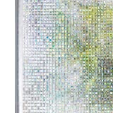 Homein Window Film Decorative Privacy Home Window Film 3D Square Static Cling Film Window Removable Glass Films Heat Control Clear UV Protection 17.7In. by 78.7In. (45 x 200Cm)