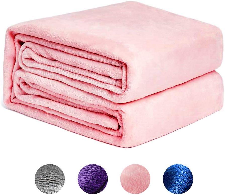 NEWSHONE Mantas Franela Fleece Blanket Throw Blanket Double/Twin— Cosy Soft Mantas de Cama cálidas y Ligeras para sofá Sofá Manta de Microfibra para Todo Uso multipropósito