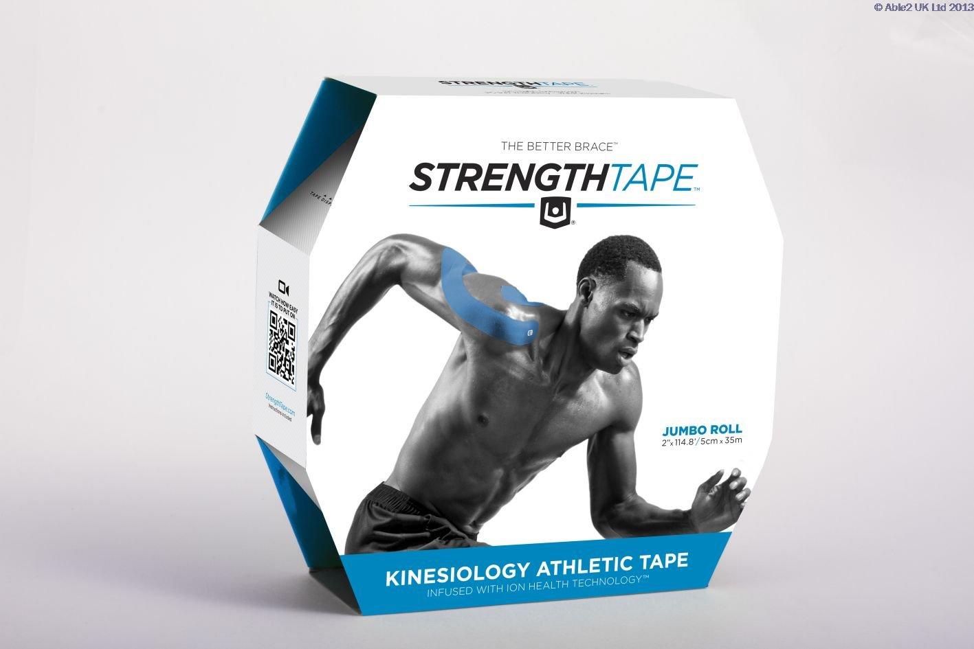 StrengthTape Kinesiology Tape Uncut Roll- Pink 35M