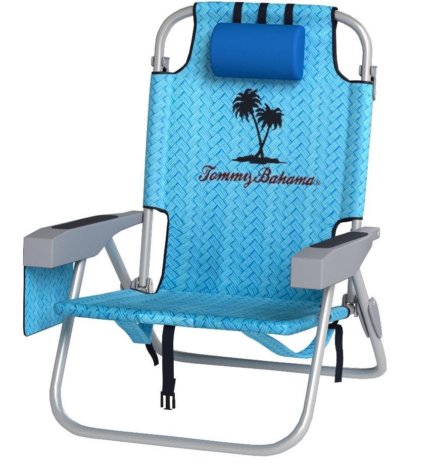 Silla de jardín, patio, playa Tommy Bahama con mochila trasera