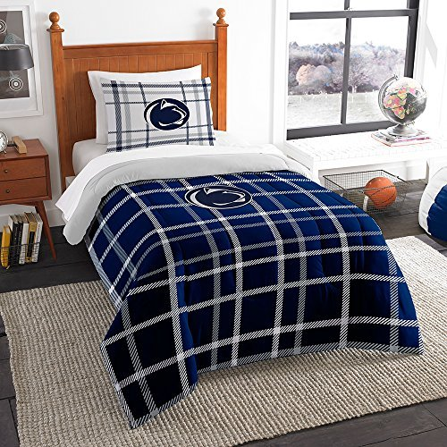 Northwest COL 835 Sham NOR-1COL835000024BBB 64 x 86 Penn State Nittany Lions NCAA Twin Comforter Set, Soft & Cozy (Penn State Bedding)
