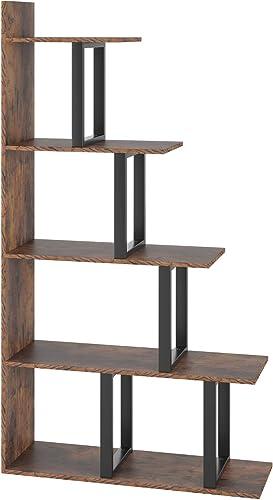 Homfa Wooden 5-Tier Bookshelf
