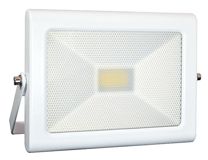 Tibelec 349310 Proyector LED extra plana aluminio/vidrio 20 W ...