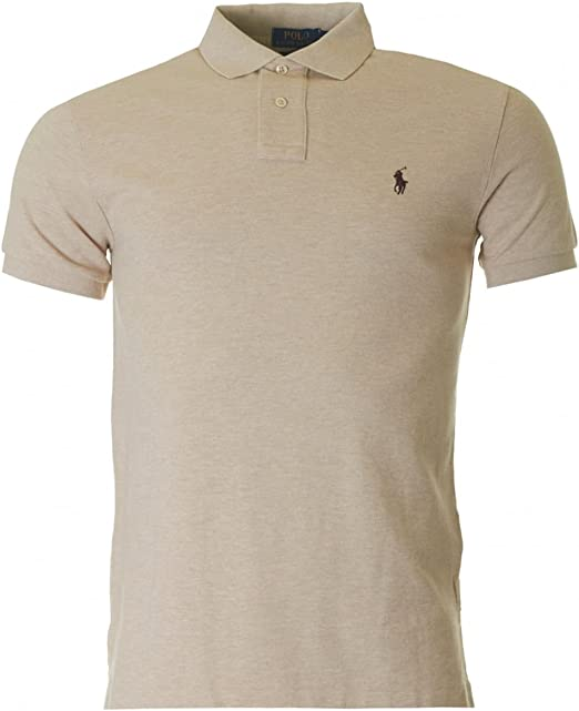 Polo Ralph Lauren A12KAA09C8312 Polo, Beige (Dune Tan Heather), XL ...