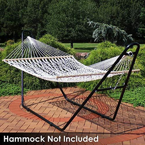 Sunnydaze 550-Pound Capacity Universal Multi-Use Heavy-Duty Steel Hammock Stand, 2 Person, Fits Hammocks 9 to 14 Feet Long, Black