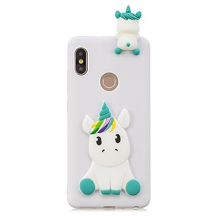 CXTcase Funda para Xiaomi MI A2/MI 6X/Redmi Note 5 Pro Carcasa 3D Unicornio Suave TPU Silicona Case Anti Rasguños Cover Anti-Gota Bumper para Xiaomi ...