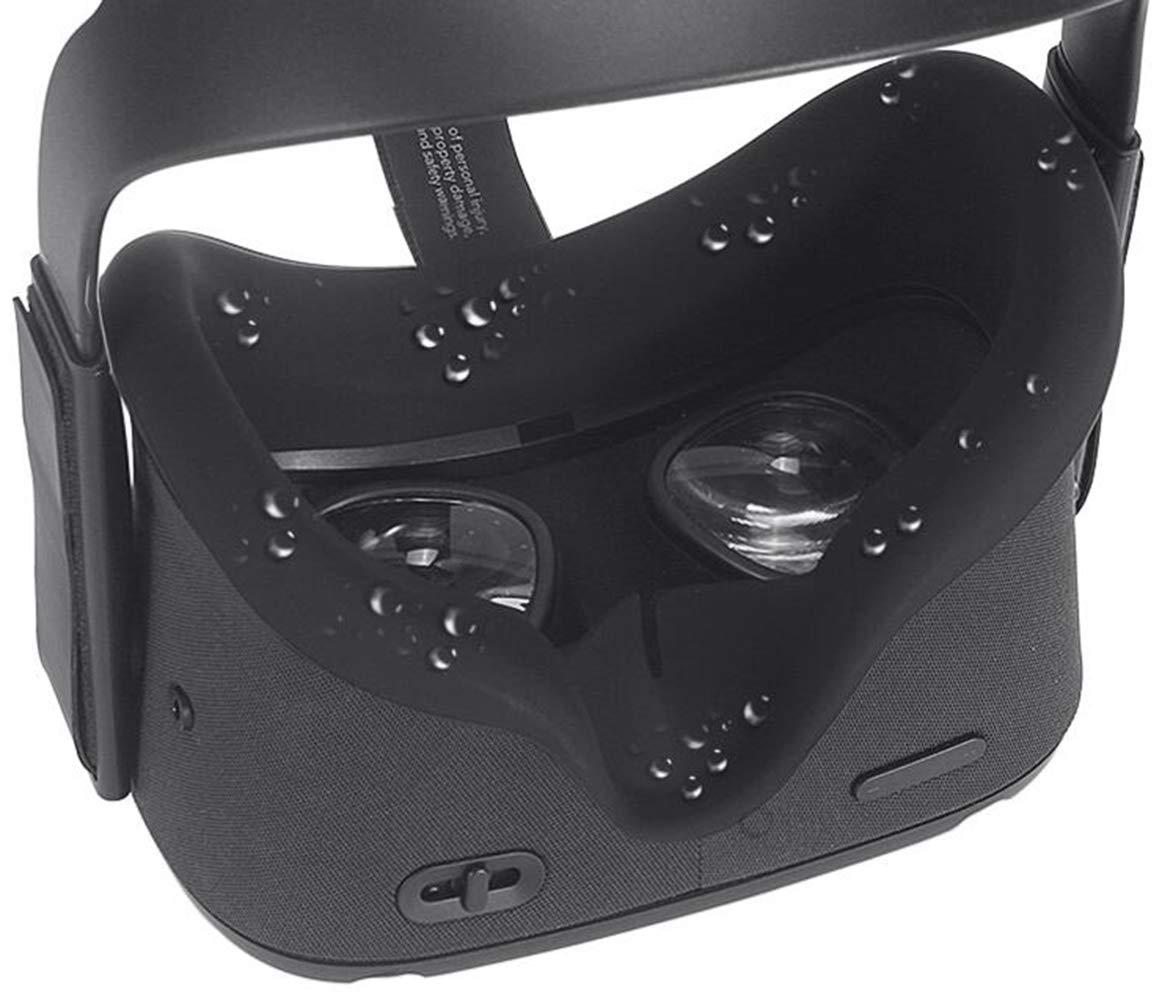Esimen VR Masque et Coussinet en Silicone pour Oculus Quest Mask Black