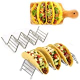 Taco Holder, taco holder stand,Stainless Steel Taco Rack, Good Holder Stand on Table, Hold 3 or 4 Hard or Soft Shell Taco, Sa