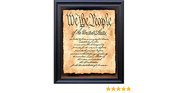 C We The People Us Constitution Art Print Home Decor Wall Art Poster