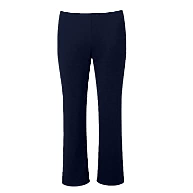 8f6720687f7 MISS  N  MAM New Ladies Pull On Ponte Bootleg Elasticated Women Trousers  Plus Sizes