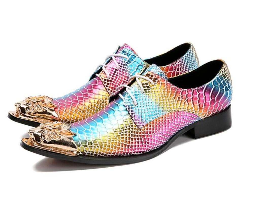 Orfila Herren Schuhe aus Leder, lang, Metall, für Club, Party, Party, Party, Damen, Gr. 38–45 2314af