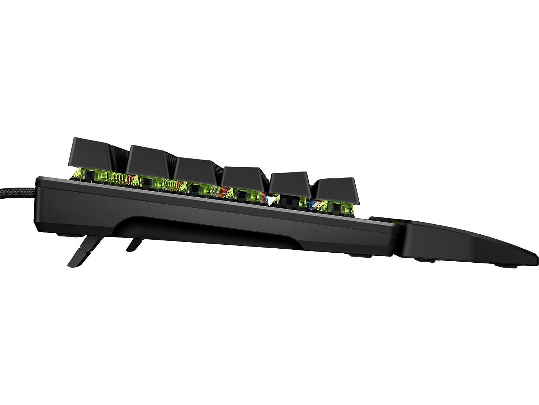 Nera meccanica red switch ottimizzata retroilluminazione LED a 4 zone personalizzabile HP Pavilion Gaming Keyboard 800