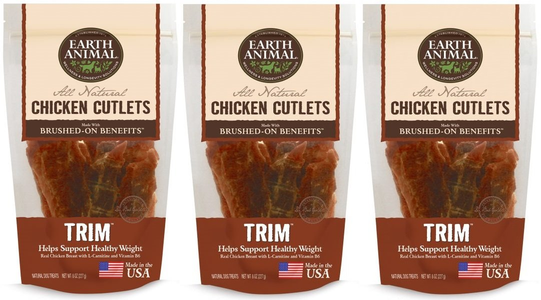 Earth Animal – Trim – Chicken Cutlet Treats 8oz 3 Pack