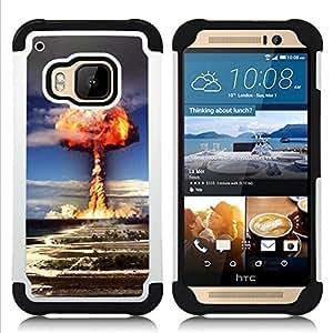 For HTC ONE M9 - explosion powerful atomic bomb Dual Layer caso de Shell HUELGA Impacto pata de cabra con im??genes gr??ficas Steam - Funny Shop -