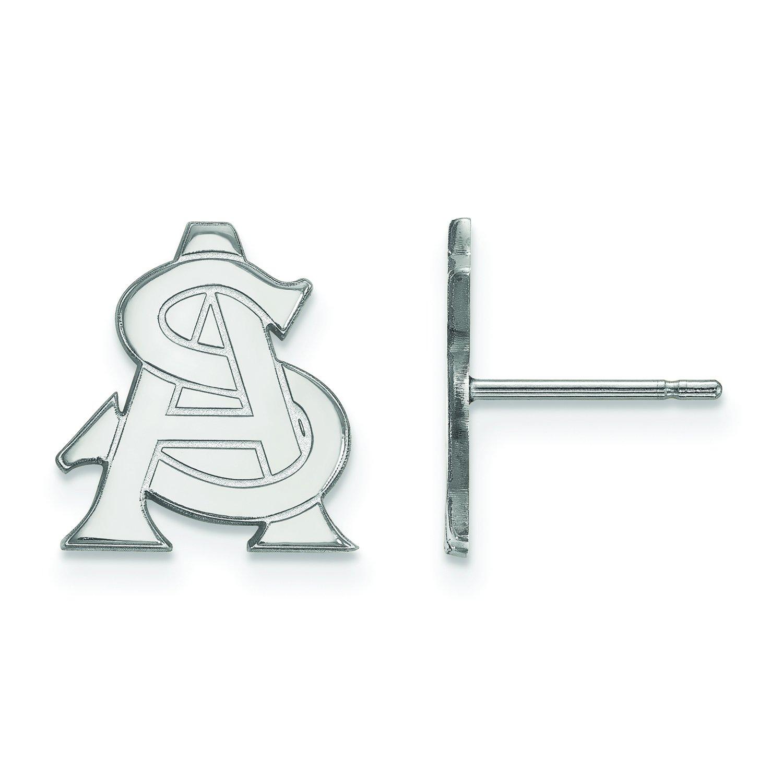 Arizona State Small ( 1 / 2インチ)ポストイヤリング14 Kホワイトゴールド   B01IYEX7OY