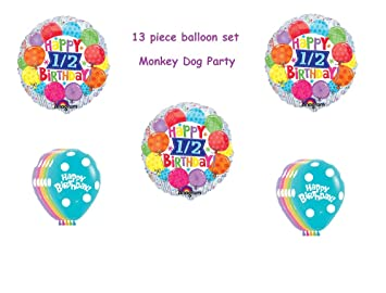 Amazoncom 13 pc BALLOON set HAPPY HALF BIRTHDAY party